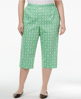 Alfred Dunner Plus Size Bahama Bay Collection Printed Capri Pants
