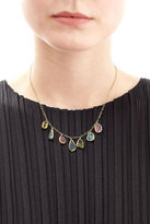 Pippa Small Tumbled Seven Stone 18kt Gold Necklace with Tourmaline
