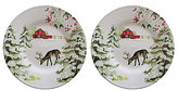 Southern Living Holiday Deer Accent Salad Plates, Set of 2