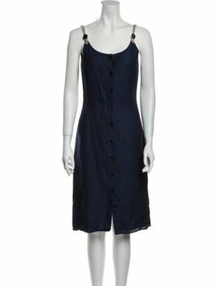 Altuzarra Linen Knee-Length Dress Blue