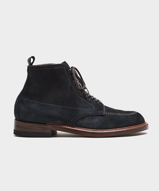 Alden Todd Snyder + Indy Boot Navy Reverse Chamois