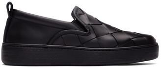 Bottega Veneta Black Maxi Intrecciato Sneakers