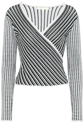 Jonathan Simkhai Striped stretch-knit top