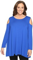 Vince Camuto Specialty Size Plus Size Long Sleeve Cold-Shoulder Top