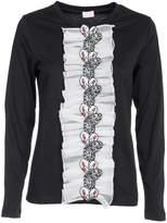 Giamba Ruffled Butterfly Sweatshirt