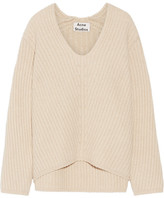 Acne Studios Deborah Ribbed Wool Sweater - Beige
