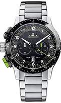 Edox Men's 10305 3NVM NV Chronorally 1 Analog Display Swiss Quartz Silver Watch