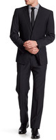 English Laundry Black Tattersall Two Button Notch Lapel Suit