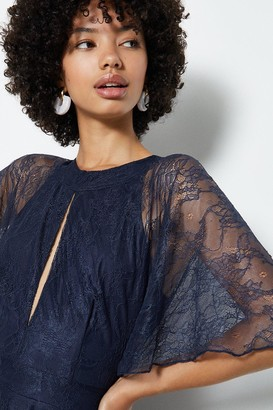 Coast Open Back Tie Neck Lace Midi Dress