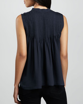 Parker Graphite Sleeveless Beaded Top