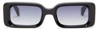 KALEOS Barbarella Rectangular Acetate Sunglasses - Black