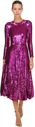 Temperley London Sequined Midi Dress