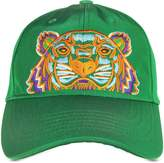 Kenzo Grass Green Canvas Tiger Baseball Cap