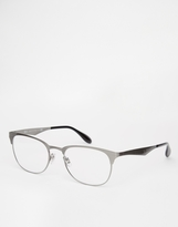 Ray-ban Clubmaster Glasses - Silver