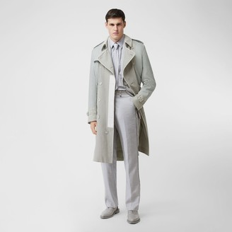 Burberry Panelled Linen Trench Coat