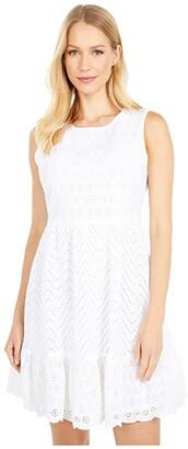 Vineyard Vines Allamanda Eyelet Dress (White Cap) Women's Dress