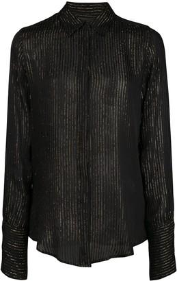 Nili Lotan Sheer Striped Shirt