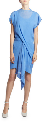 Nina Ricci Asymmetric Draped Front Mini Dress