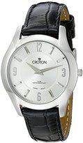 Croton Women's CN207501BSSL Heritage Analog Display Japanese Quartz Black Watch