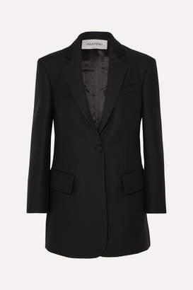 Valentino Silk And Wool-blend Blazer - Black