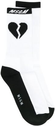 MSGM Heartbreak socks