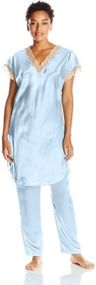 Shadowline Women's Charming Satin Charmeuse Pajama Set