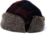 Barbour Brigantes Navy Merlot Tartan Trapper Hat