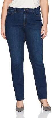 NYDJ Women's Plus Size Marilyn Straight Leg Jeans - Blue - 18W 32.5