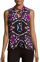 1 STATE Sleeveless Abstract Print Top