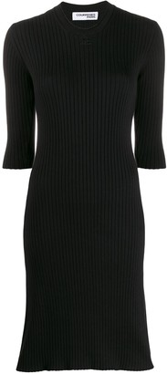 Courreges Ribbed Knit Sweater Dress