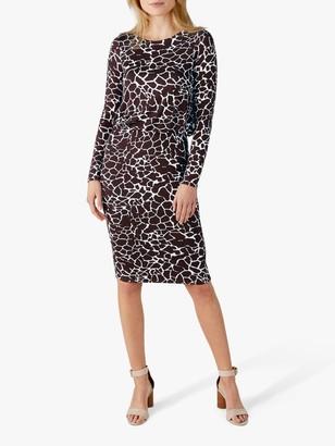 Pure Collection Jersey Blouson Dress, Giraffe Print
