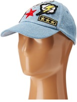 Steve Madden Multi 7 Patch Stone Washed Baseball Cap Baseball Caps