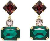 Erdem Gold Rectangular Drop Earrings