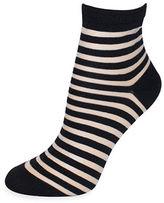 Kate Spade Striped Anklet Socks