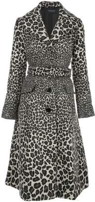Samantha Sung animal-pattern trenchcoat