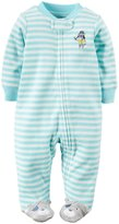 Carter's Striped Footie (Baby) - Blue/White-3 Months