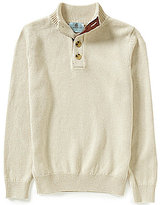 Class Club Big Boys 8-20 Button Mock Neck Sweater