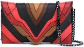 Elena Ghisellini 'Multi Linea' clutch - women - Calf Leather - One Size