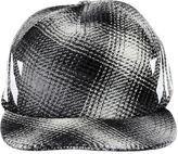 Off-White Brushed Stripes Flannel Baseball Hat