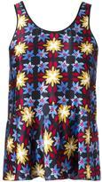 Forte Forte patterned vest top - women - Silk - 0
