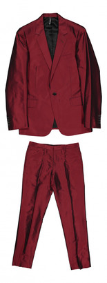 Christian Dior Red Silk Suits