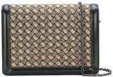 Bottega Veneta metallic clutch bag