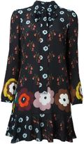 RED Valentino floral print shirt dress - women - Silk/Polyester - 38