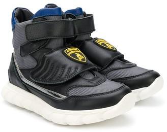 Bumper Lamborghini patch hi-top sneakers