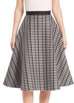 Lela Rose Raised Double Mesh Full Skirt
