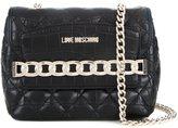 Love Moschino chain trim crossbody bag