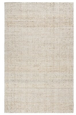 Beachcrest Home Jammie Handwoven Flatweave Wool Natural Area Rug Rug Size: Rectangle 2' x 3'