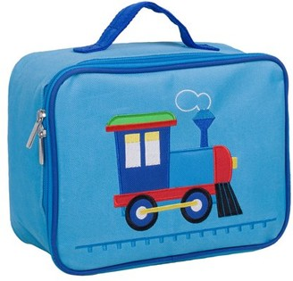 Olive Kids Train Embroidered Blue Insulated Lunch Box for Boys and Girls