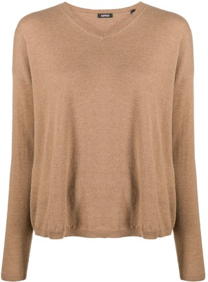 Aspesi V-Neck Knitted Jumper