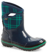 Bogs &Pimsoll Plaid& Mid High Waterproof Snow Boot with Cutout Handles